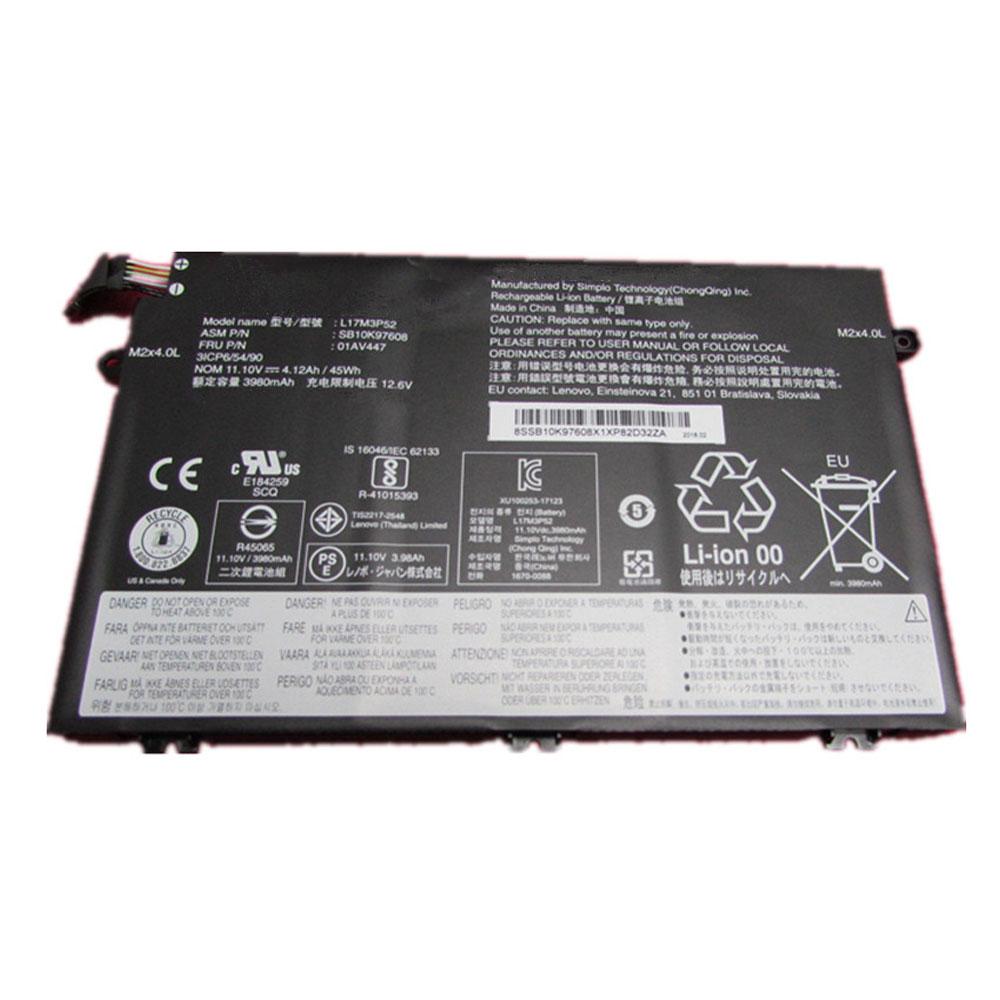 11.1V Lenovo L17M3P52 Akkus