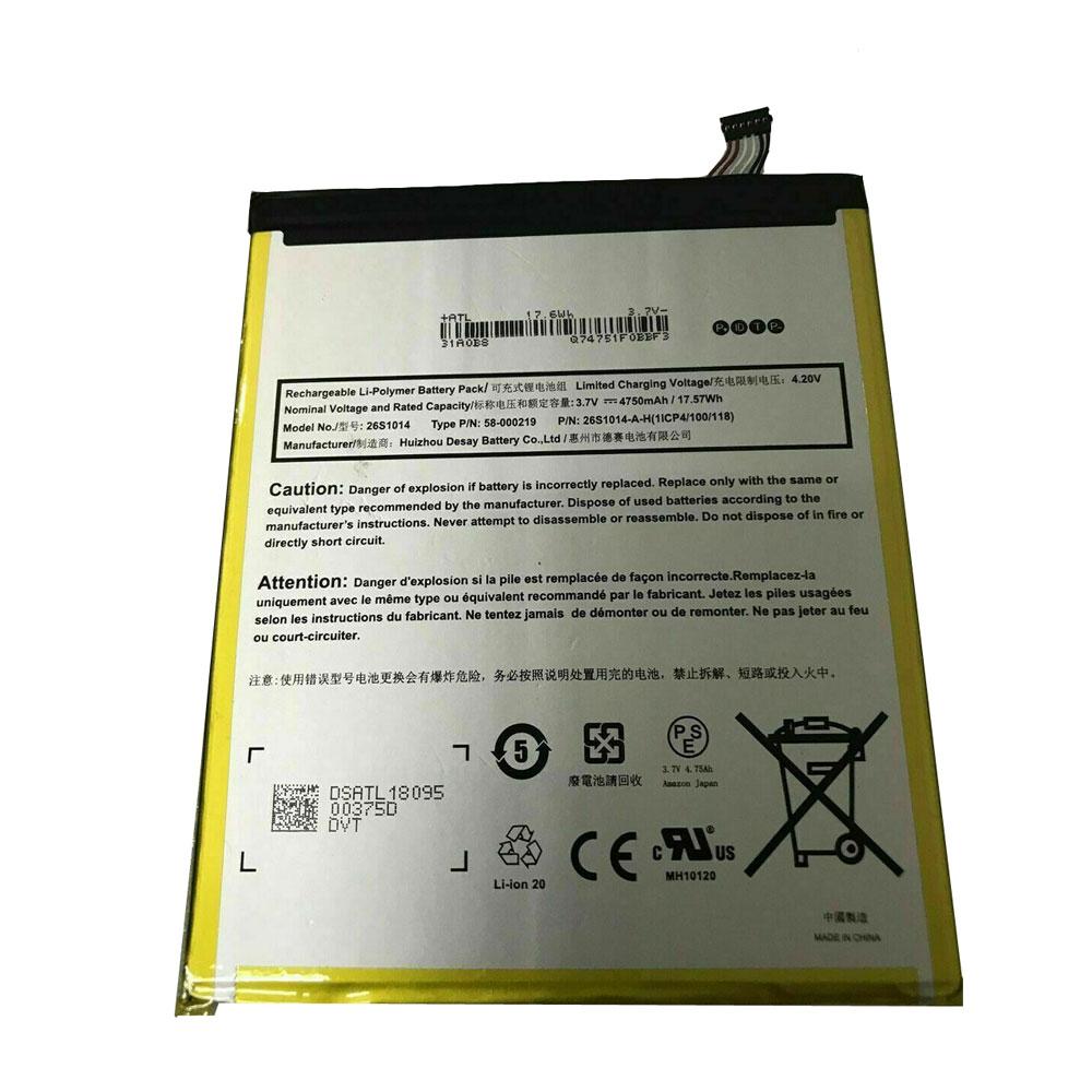 26S1014 4750mAh/17.57WH 3.7V/4.2V laptop akkus