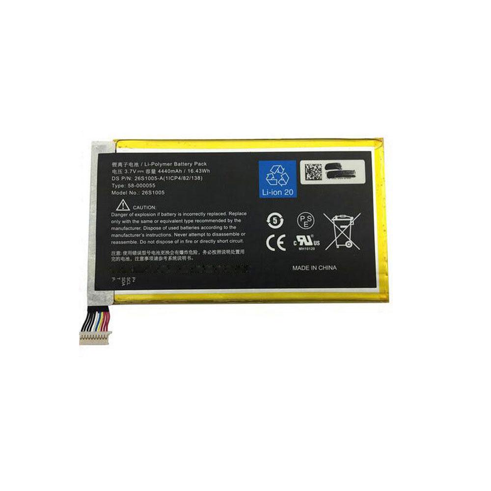 3.7V Amazon 26S1005 Akkus