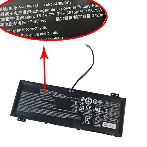 15.4V Acer AP18E7M Akku