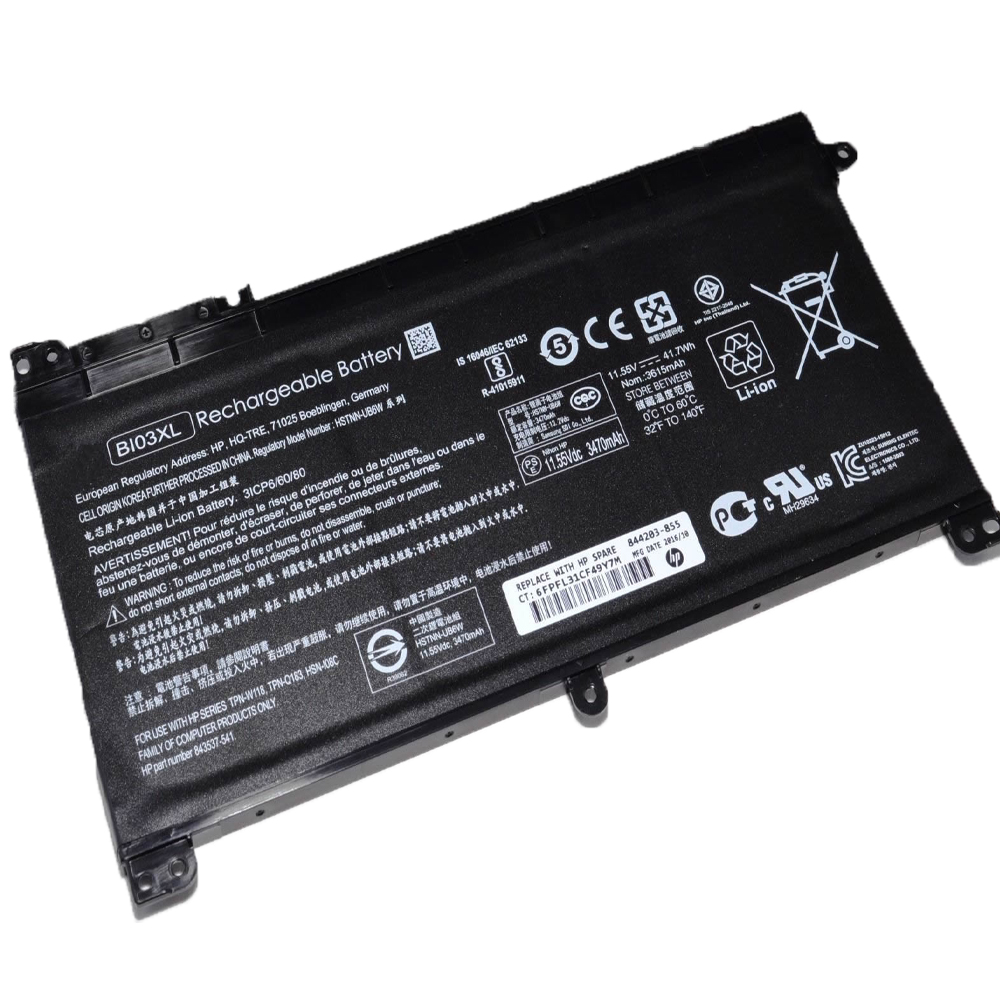 11.55V HP BI03XL Akkus