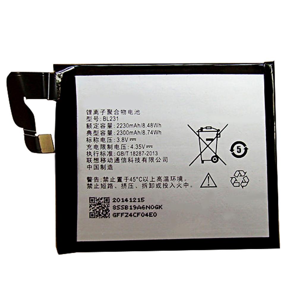 3.8V/4.35V Lenovo BL231 Akkus