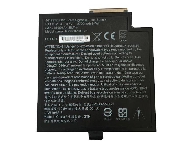 10.8V Getac BP3S3P2900-2 Akkus