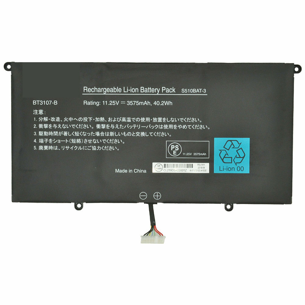 BT3107-B laptop akkus