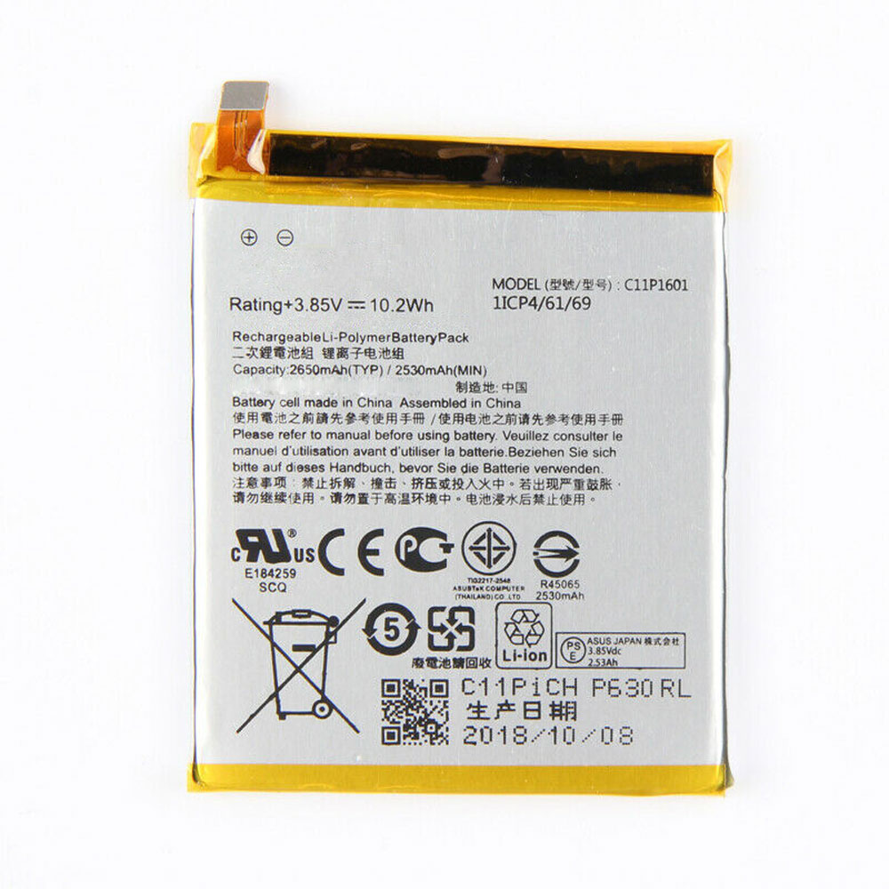3.85V Asus C11P1601 Akkus
