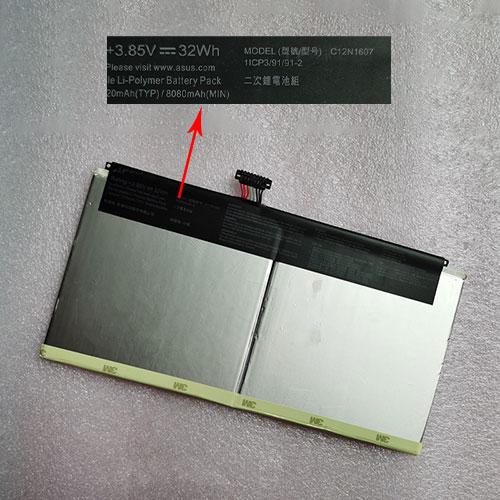 3.85V/4.4V ASUS C12N1607 Akku