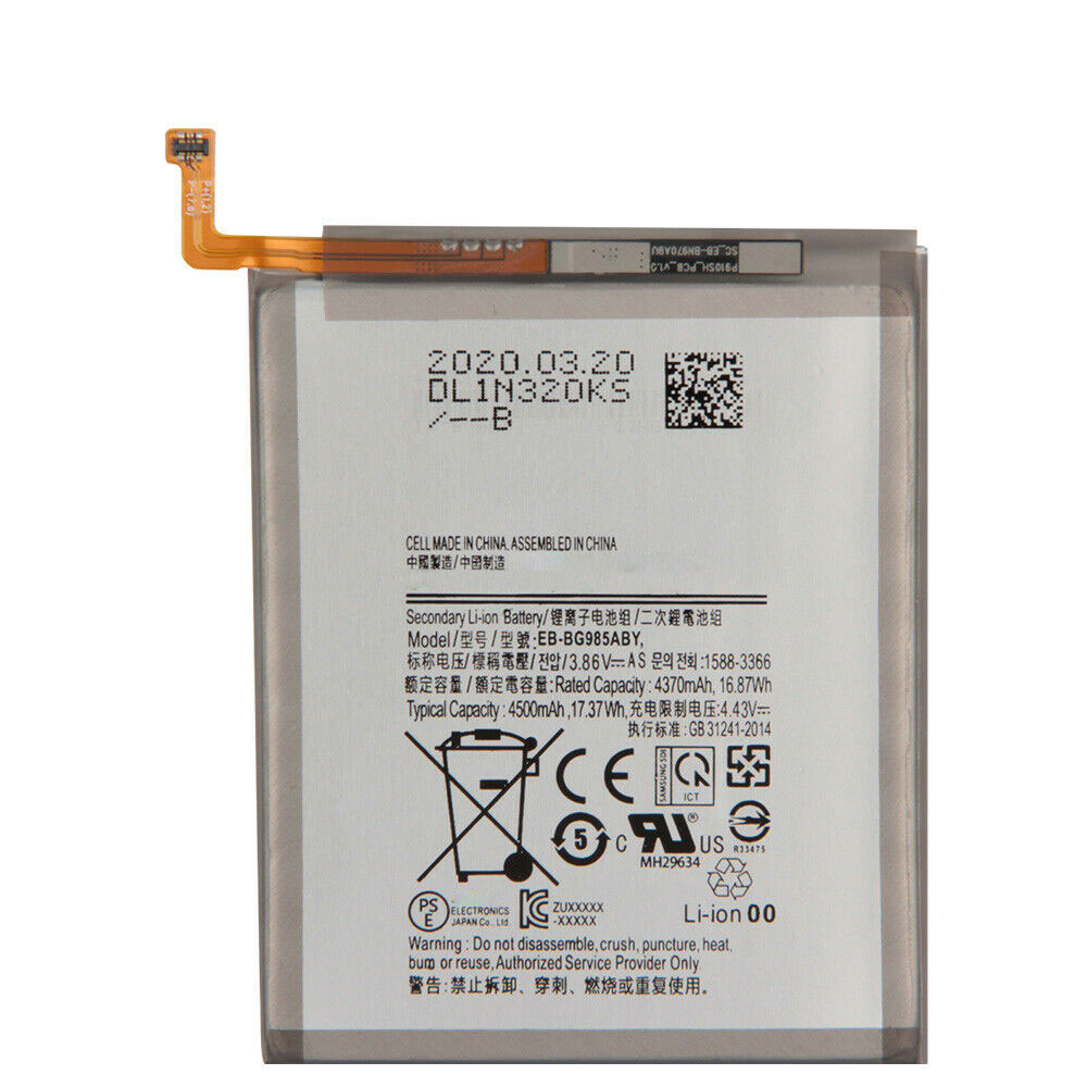 3.86V/4.43V Samsung EB-BG985ABY Akku