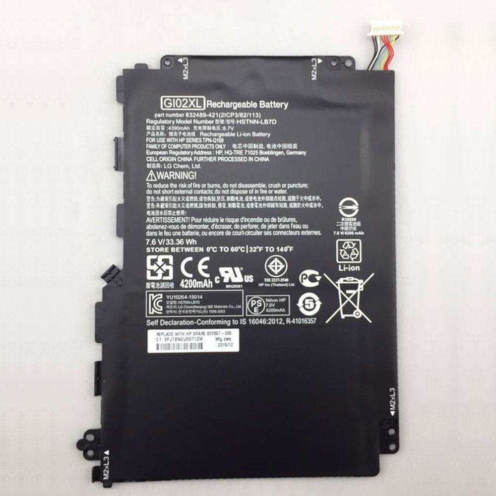 7.6V/8.7V HP GI02XL Akkus