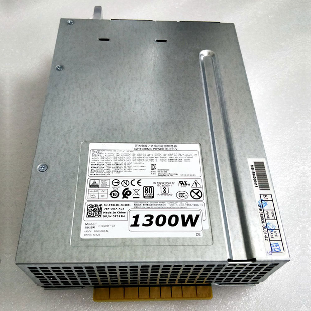 1000W AT AC INPUT 100-107V DELL H1300EF-02 adapter