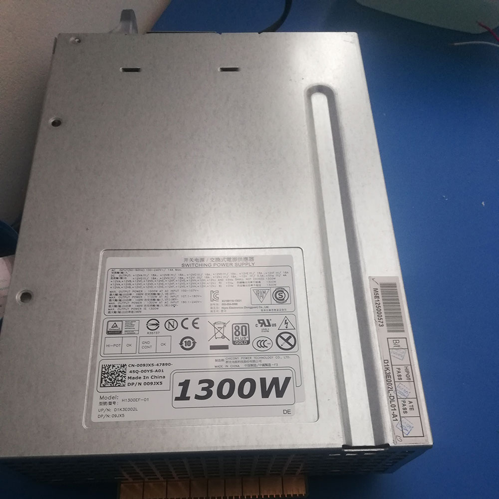 1300W AT AC INPUT 180.1~240V~ DELL H1300EF-01 adapter