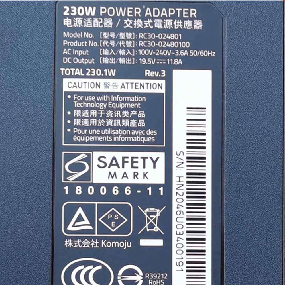 RC30-024801laptop Ladegerät