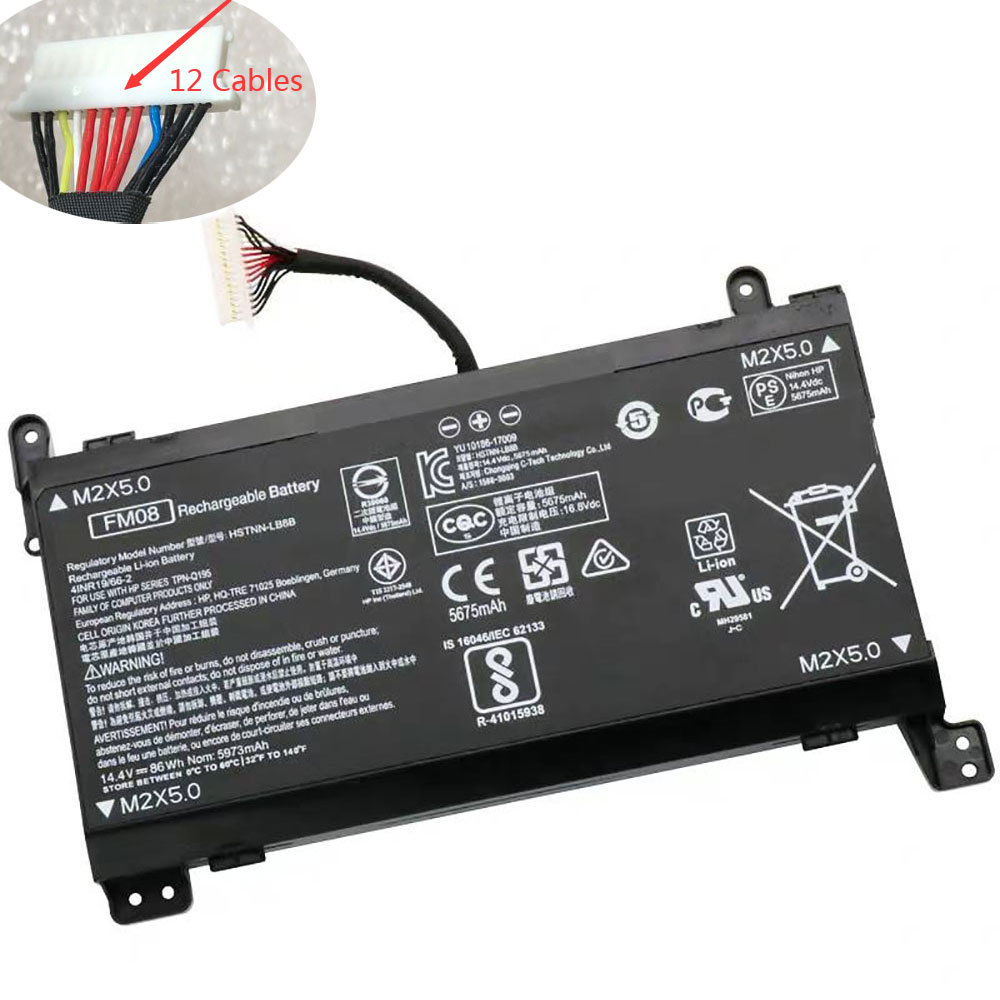 14.4V HP FM08 Akku