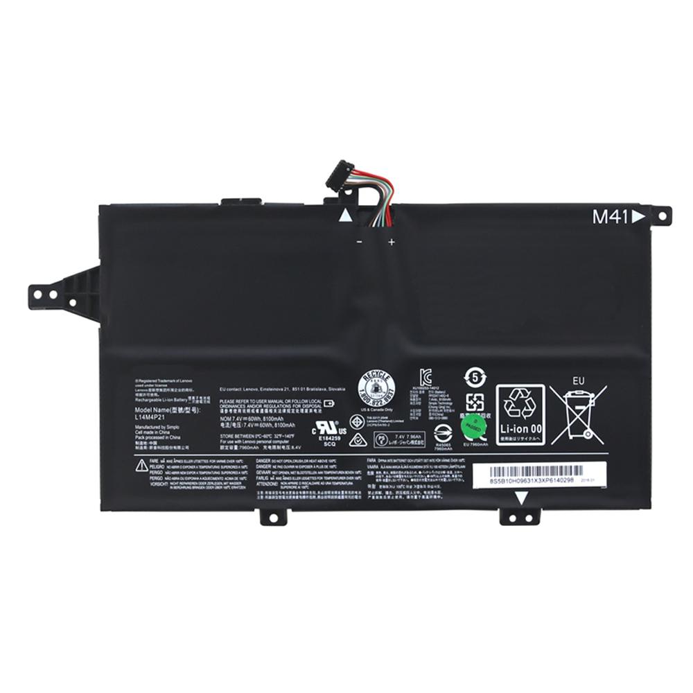 7.4V Lenovo L14M4P21 Akkus