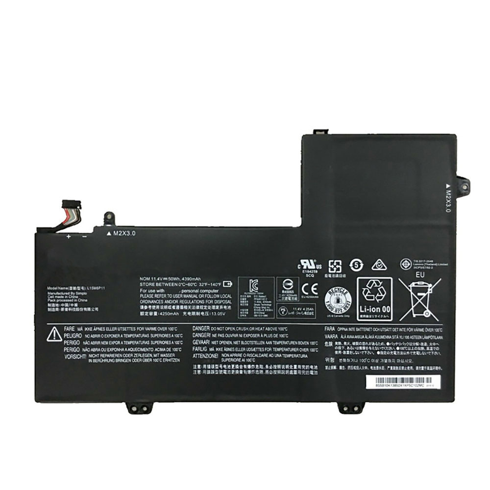 11.4V/13.05V Lenovo L15M6P11 Akkus