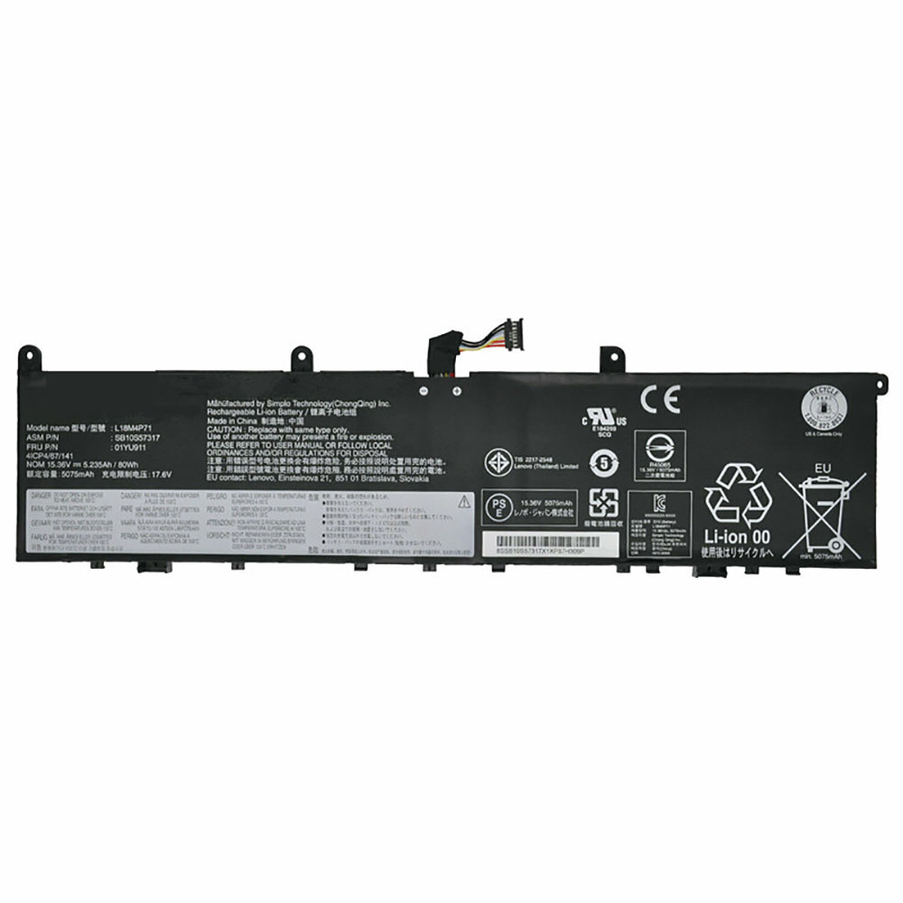 15.36V/17.6V Lenovo L18M4P71 Akkus