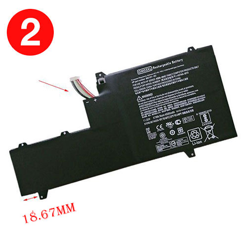 11.55V HP OM03XL Akku