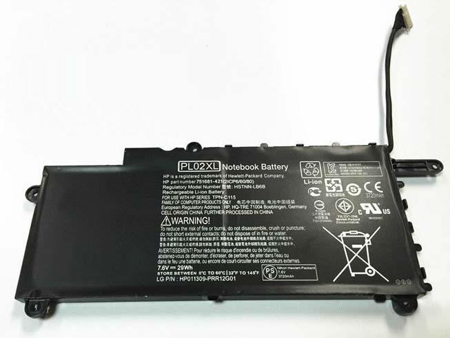7.6V HP PL02XL Akkus