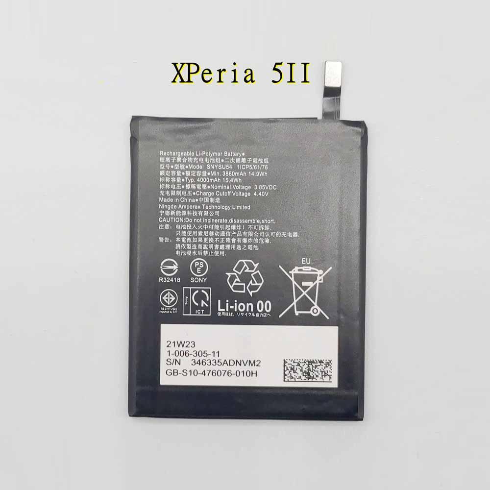 3.85V/4.40V Sony SNYSU54 Akku
