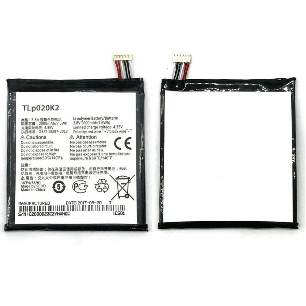 3.8V/4.35V Alcatel TLp020K2 Akkus
