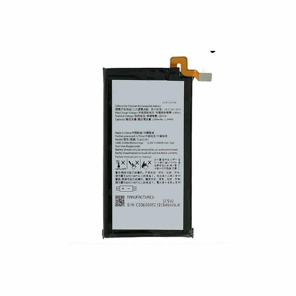 3.85V/4.40V BlackBerry Tlp035B1 Akkus