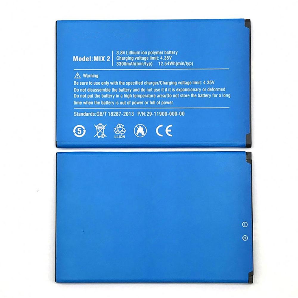 3.8V/4.35V Ulefone MIX2 Akkus
