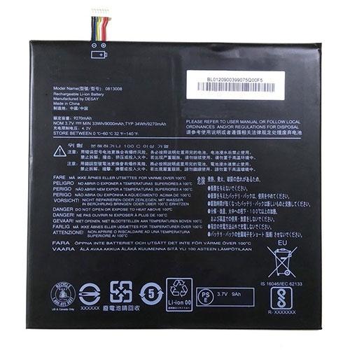 3.7V/4.2V Lenovo 0813008 Akku